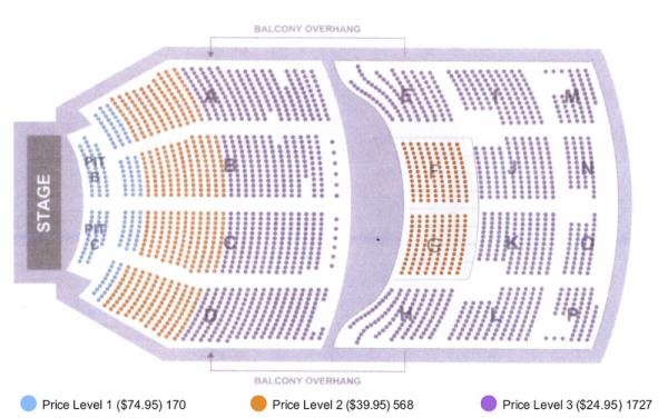 Kari Jobe seating map