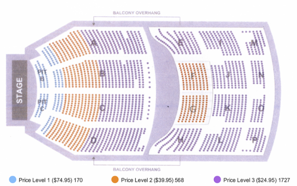 Kari Jobe seating map